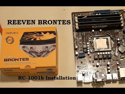 Reeven RC-1001 Brontes 4K Installation - Best Slim Low Profile CPU Cooler for Mini ITX and HTPC