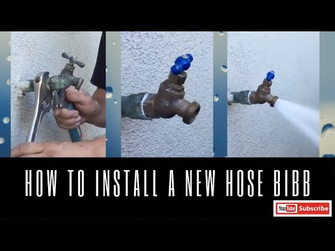 How to Replace a New Hose Bibb