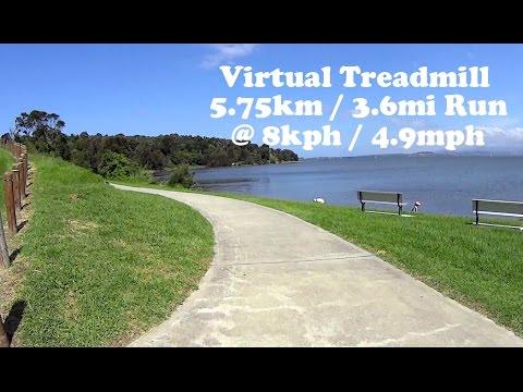 Virtual Treadmill Run 5.75km / 3.6mi @ 8kph / 4.9mph - Woolamai Point, Berkeley, NSW Australia