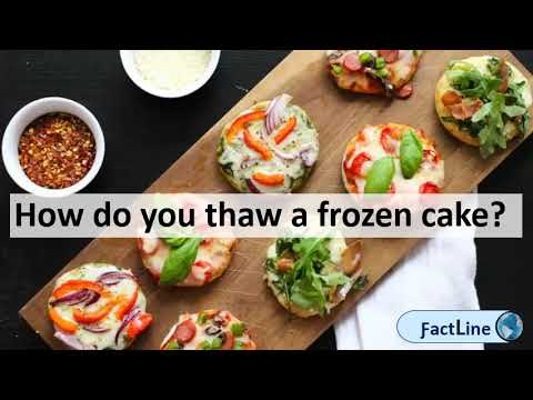 How long can you keep a frozen cake | How do you thaw a frozen cake?