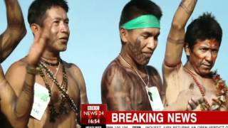[BBC NEWS Exclusive] Protesters dig canal through Belo Monte dam in Brazil (June/16/2012)