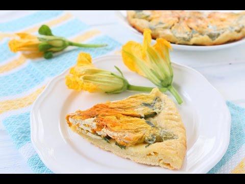 Zucchini Flower tart recipe