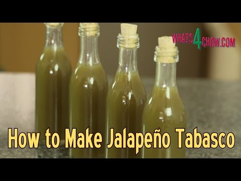 How to Make Jalapeno Tabasco Sauce - Making Green Tabasco Sauce at Home!!!