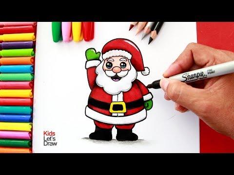Xxx Mp4 Aprende A Dibujar Y Pintar A PAPÁ NOEL Fácil How To Draw A Cute Santa Claus 3gp Sex