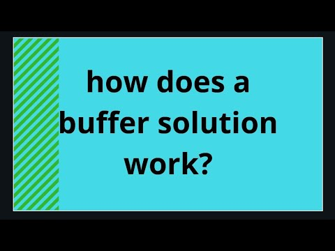 what is a buffer solution and how does it work in hindi and urdu