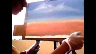 Oil Painting :desert Full Video By Aiman Almurish