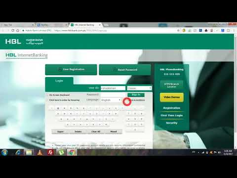HBL Mobile App internet Banking