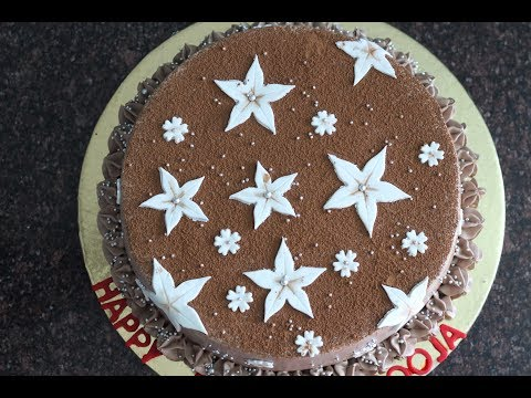 How to make a chocolate mousse cake @home - step by step