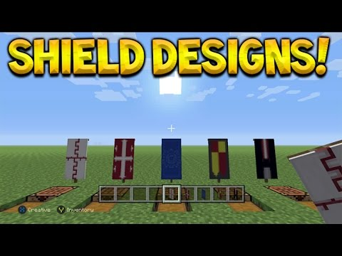 5 Custom Shield Style Designs Banners Tutorial Minecraft Console Edition