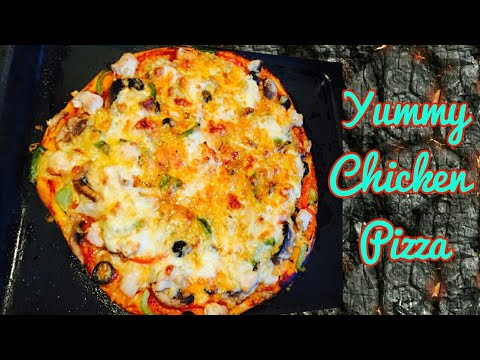 How to Make Perfect CHICKEN PIZZA at Home - Simple Homemade Pizza Recipe | FoodyMomm