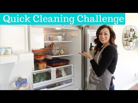 Quick Cleaning Challenge 1 | Clean with Me | Cleaning Out the Fridge