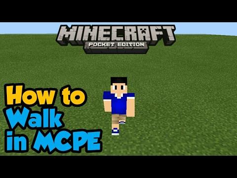 Minecraft PE | How To Walk! | Command Block creation