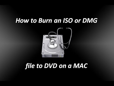 How to Burn an ISO or DMG file to DVD on a Mac