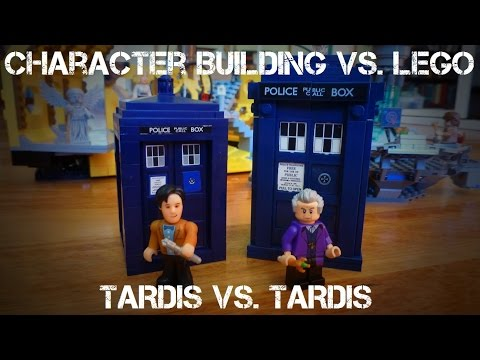 Character Building vs. LEGO: TARDIS Face Off!