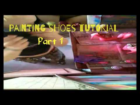 Spray painting Shoes with Fluorescent paint