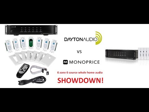 Differences Between Dayton Audio DAX66 and Monoprice 6 Source 6 Zone Whole Home Audio!
