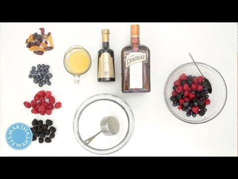 How to Macerate Fruit with Martha Stewart