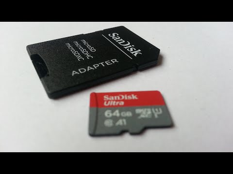 SanDisk Ultra 64GB microSDXC UHS-I Card With Adapter Card