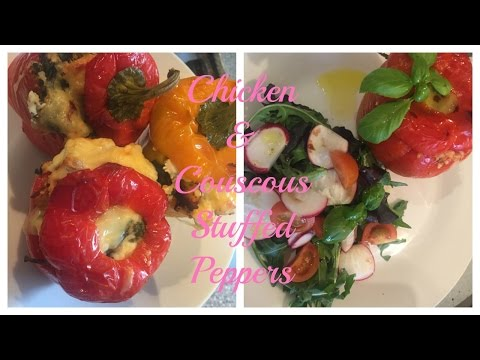 Chicken & Couscous Stuffed Peppers