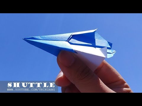 EASY PAPER AIRPLANE for Kids- How to make an Origami Paper Plane | Shuttle