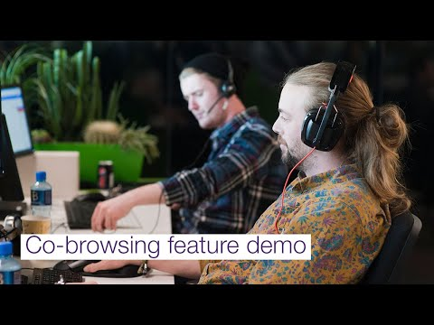 TELUS Cloud Contact Center: Co-browsing feature demo