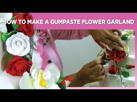 How to Make a Gumpaste Flower Garland