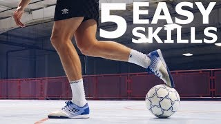 5 Easy Tight Space Dribbling Skills To Beat Defenders | Easy Dribbling Skills Tutorial