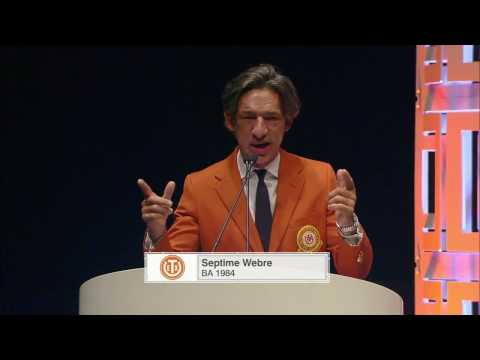 Septime Webre - 2016 Distinguished Alumnus Award Acceptance Speech
