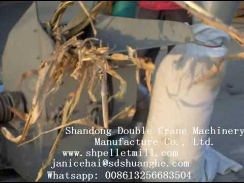corn stalk/rice husk/straw/stem crusher
