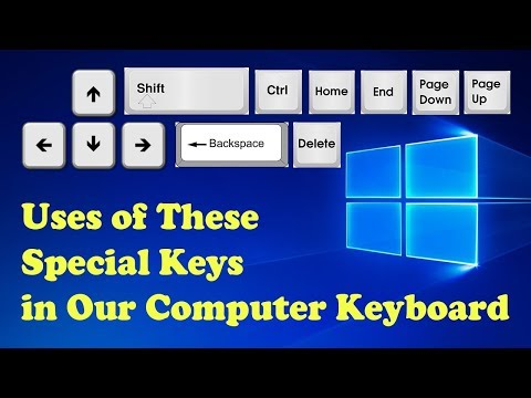Valuable Information About Basic Keys Arrow Keys, Home, End, Page Up, Page Down, Shift, Ctrl - Tamil