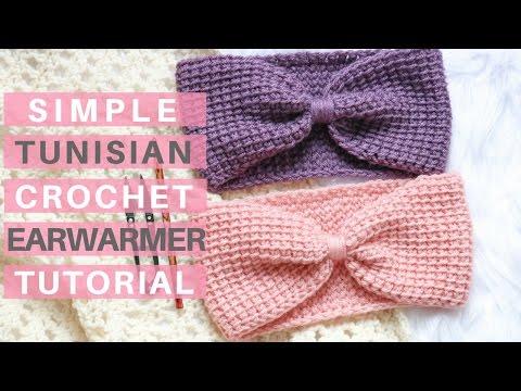 Simple Tunisian Crochet Ear Warmer *Pattern and Tutorial*