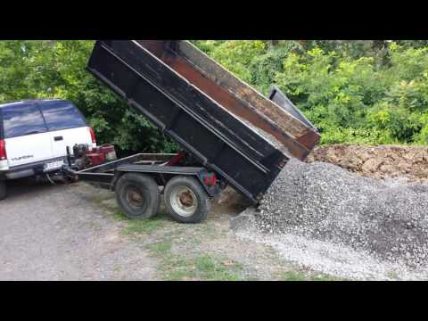 Homemade Dump Trailer - Log Splitter Lift