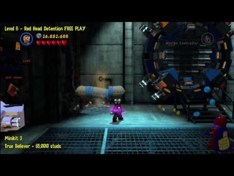 Lego Marvel Super Heroes: Level 6 Red Head Detention - FREE PLAY (Minikits and Stan In Peril) - HTG
