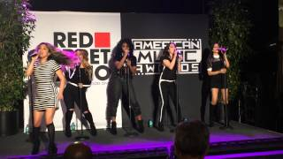 "Fifth Harmony Performs ""Sledgehammer"" at The AMAs Red Carpet Radio"