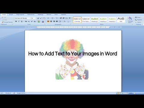 Adding Text to Your Images in Word