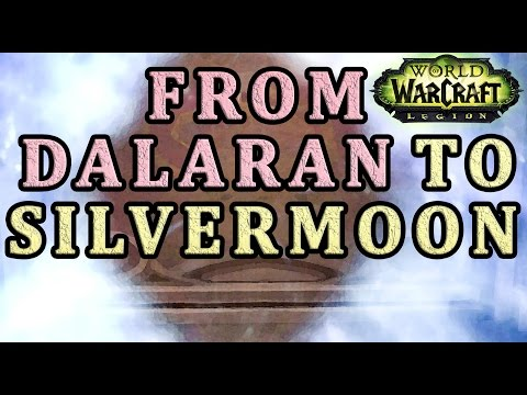 How to get from Dalaran to Silvermoon WoW