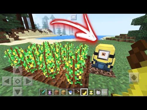 SAIU! NOVA ATUALIZAÇÃO DOS MINIONS PARA MINECRAFT POCKET EDITION 1.1 (Minecraft PE 1.1)