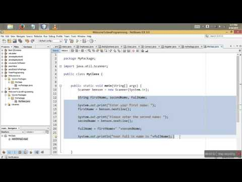8 - Java user input using Strings and Double- JAVA TUTORIAL