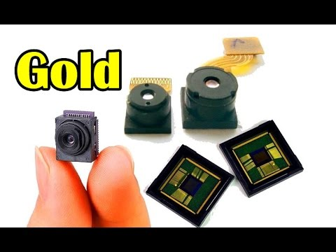 There is gold hidden Pieces of CCD camera Old Mobile Call phone electronic scrap Waste recycling.