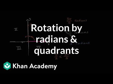 Rotation by radians and quadrants | Trigonometry | Khan Academy
