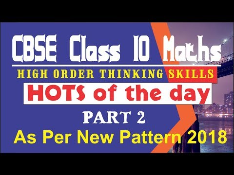 Higher order thinking skills Questions class 10 / CBSE HOTS questions / CBSE New Exam Pattern