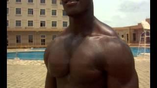 Liberia Bodybuilder Mulbah Dennis Bouncing Pecs