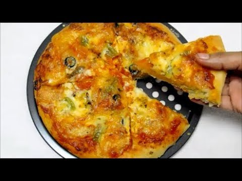 Veg Pizza recipe At home Without Oven