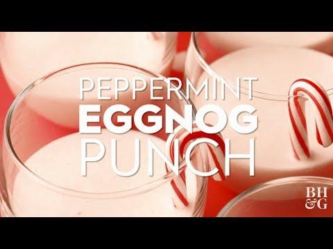 Peppermint Eggnog Punch