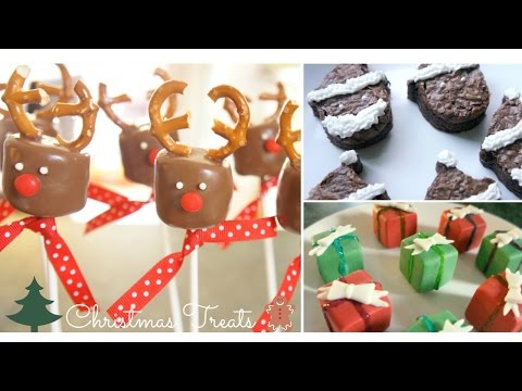 3 DIY Christmas Treats! (Reindeer Marshmallow Pops, Santa Brownies, & Present Chocolates!)