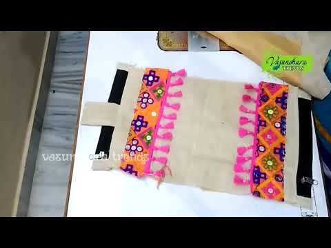 How To Make Designer Purse At Home || How To Sew DIY Purse With Waste Cloth