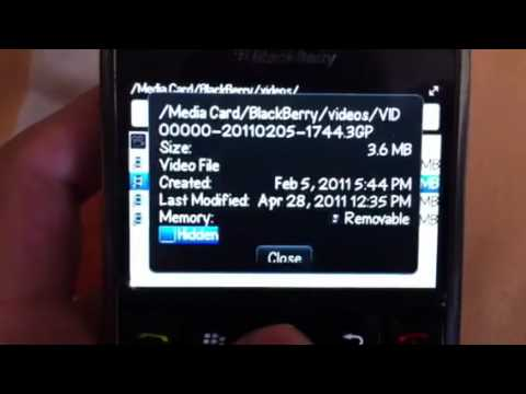 How to hide videos and files on blackberry