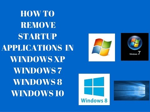 HOW TO DISABLE STARTUP APPS ON WINDOWS 10/8.1/8/7