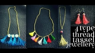how to make thread tassel jewellery/earring/pendant/nacklace/ silk tread jewellery DIY