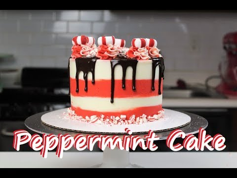 Easy Peppermint Cake | CHELSWEETS